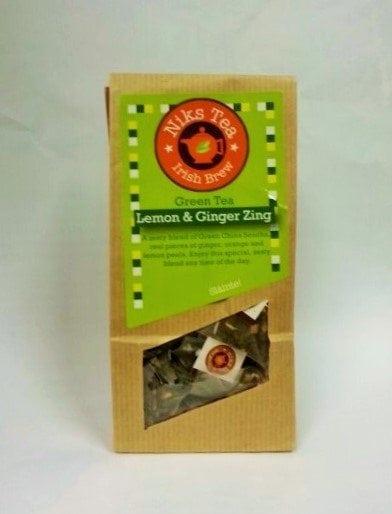 Lemon & Ginger Green Tea Bags